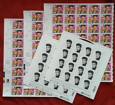 ELVIS PRESLEY lot (3 Sheets x 40 of 29¢ AND 2 sheets x 16 of Forever) US Stamps
