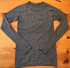 Lululemon: Swiftly Tech - Long Sleeve Stripe, Black- Size 4