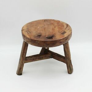 Small round stool, old, Solid wood, Chinese antique Round Stool