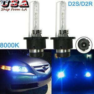 Blue 8000K D2S D2R HID Headlight Bulbs For Acura TL TSX RDX MDX NSX ZDX CL RL