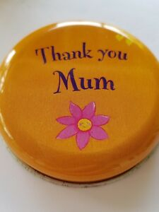 MUM CANDLE IN TIN  new ($9.00 set post for any 2)