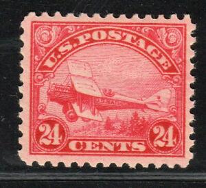 1923 US SC C6 24c Carmine DeHavilland Bipland Airmail - MVLH Mint VF/XF