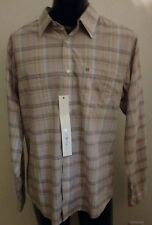 New Mens KREW KR3W Plaid Skateboarding Shirt Button Front Long Sleeve M