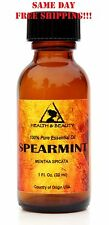 Spearmint Essential Oil Aromatherapy Natural 100% Pure Glass Bottle 1 Oz, 30 ml
