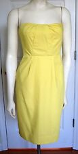 J Crew Dress Size 2 Erica Cotton Cady Bright Lemon Yellow Strapless Bridesmaid