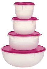 Authentic Tupperware 4 Piece Mega Mixing Bowl and Lid Set