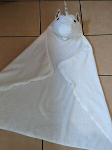 White & Gold Unicorn Hooded Cape Blanket Wrap Dress up