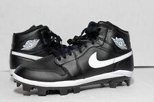 Men's Jordan 1 Retro MCS Baseball Cleats AV5354-001 Black & White