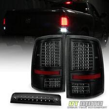 2009-2017 Dodge Ram 1500 10-17 2500 3500 LED Tail Lights+LED 3rd Brake Stop Lamp