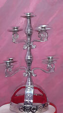 Belly Dance New Sliver  Candle Holder ,Candelabra Shemadan 9 Candles Handmade