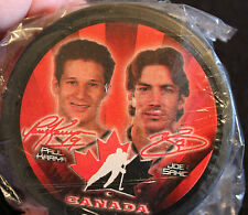 2002 McDonalds Official Team Canada Joe Sakic & Paul Kariya Souvenir Puck