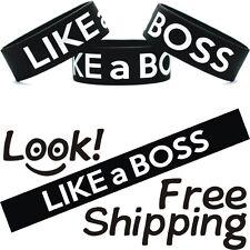 Like A Boss Bracelet Funny Humor Joke Pic One Inch Wristband Free Shipping
