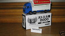 TOMY TOMICA 19-D-7 MIT.FUSO WING-ROOF TRUCK BLUE 30 ANN
