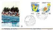 Repubblica Italiana 1994 FDC Filagrano Campionati Mondiali di Nuoto