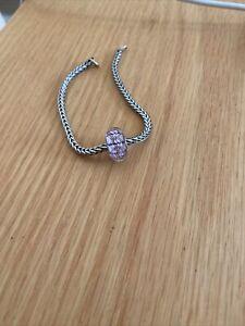 Trollbeads Unique Pink Flower Bead