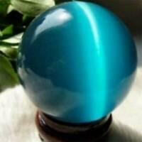 20mm Blue Cat's-eye Opal Ball Natural Quartz Crystal Healing Stone Sphere Gift