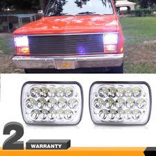 "7x6"" 45W Rectangular LED Headlights for Jeep Wrangler YJ Cherokee XJ  Chevrolet"