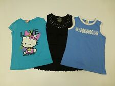 3 Old Navy Hello Kitty Girls Size 10-12 T Shirt & Tank Lot Great Condition