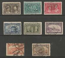 Canada SG188-95 les 1908 mauvaises québec lot de 8 utilisé cat £ 375