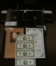 Three Uncut sheets of 4 2003A  $2 Federal Reserve Notes, Richmond VA