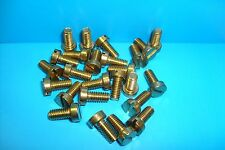 "2BA X 3/8"" BRASS CHEESE HEAD MACHINE SCREWS QTY (25)"
