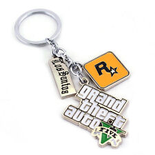 Hot Sale Game Keychain Grand Theft Auto 5 Keychain Metal Key Ring Holder Jewelry