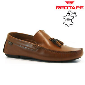 NEW MENS LEATHER SLIP ON LOAFERS MEMORY FOAM CASUAL DRIVING MOCCASIN SHOES SIZE
