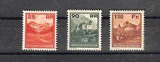 LIECHTENSTEIN, 1933 Landschaften und Gebäude 119-21 *, saubere Erhaltung,(24071)