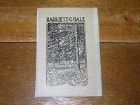 Vintage Harriett G. Hale Trail in Forest with Squirrels Black Sepia Bookplate