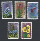 AOP Bhutan #1068-72 1993 Flowers set of 5 used