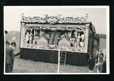 Fairground fair amusement park barrell organ c1950s real photo plain back card
