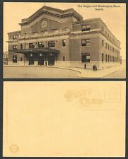 Old Railroad Station Postcard - Seattle, Washington - O and W Depot
