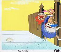REN & STIMPY ORIGINAL 1990'S PRODUCTION CEL ANIMATION ART NICKELODEON MASK