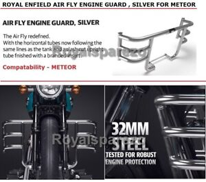"""100% Genuine Royal Enfield METEOR """"AIR FLY ENGINE GUARD , SILVER"""""""