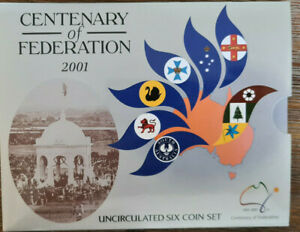 2001 Australian RAM Mint Coin Set Cover & Inner Sleeve CENTENARY of FEDERATION