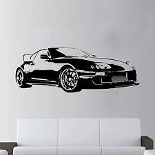 XL Large Car Toyota Supra Sports Super Free Squeegee! Wall Art Decal / Sticker