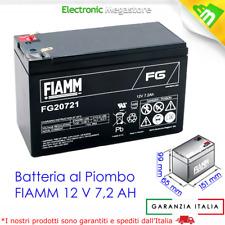 BATTERIA AL PIOMBO 12V 7.2Ah FIAMM FG20721 x UPS GRUPPI CONTINUITA', ANTIFURTI