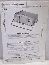 Vintage Sams Photofact Folder Radio Parts Manual Sony TV-400U Television TV