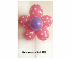"""10"""" Plain & 12"""" Polka Dot Mix Balloons For Anniversary Easter Celebrations Party"""