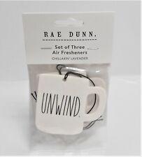 Rae Dunn CHILLAXIN' LAVENDER Set of Three (3) Air Fresheners Paperboard Mug