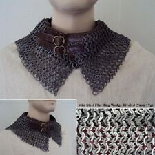 Hand Made Medieval Chain mail Standard With Alternating Dome Riveted Rings