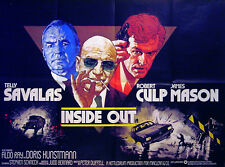 INSIDE OUT 1975 Telly Savalas, Robert Culp, James Mason, Aldo Ray UK QUAD POSTER