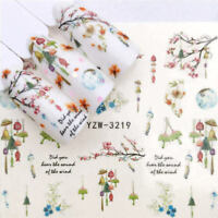 Flower 3D Decoration Art Tips Stickers Decals 1 Sheets Nail Transfer Manicure