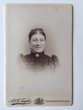 Large Victorian Carte De Visite CDV Cabinet Photo  - A & G Taylor - London