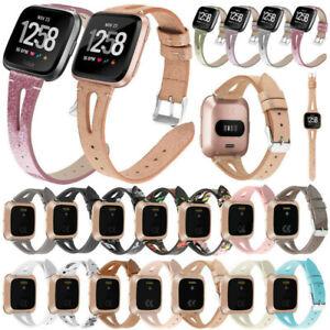 Genuine Leather Bracelet Strap Watch Band For Fitbit Versa 3 / Sense / Versa 1 2