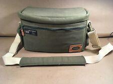 Felisi Convertible Camera Bag - Shoulder Strap or Waist - Green Canvas & Leather