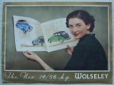 WOLSELEY 14/56 HP Car Sales Brochure June 1936