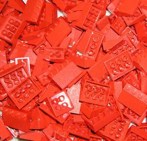 Lego® 100x Dachsteine flach 33° City rote Dachziegel Schrägsteine Creator Trains