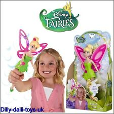 "Disney Fairies Bubble Fairy Tink Tinkerbell 9"" Doll Figure Bubble Wand Wing NEW"