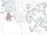 Warner Brothers-Tiny Toons Adventures-Batduck+Batman Original Production Drawing